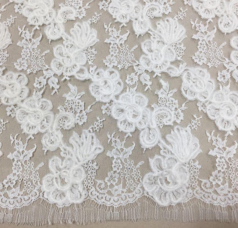 Французское шерстяное кружево Rosalie Ecru2000 белый