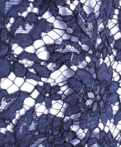 Французское кружево Valentino Marine цвет темного моря