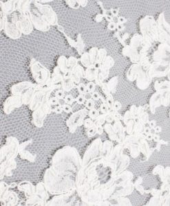 Французское кордовое кружево Rosalie Blanc белый