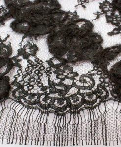 Французское шерстяное кружево Rosalie Noir