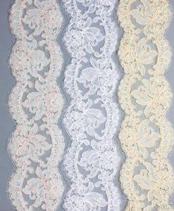 Кружево свадебное  Vera Ecru/Blanc/Ecru Beige Франция