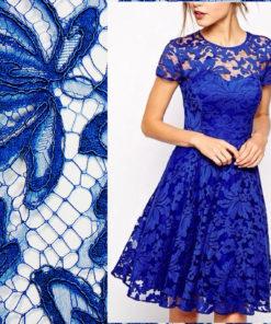 Ярко-синее кордовое кружево Victoria's Saphir