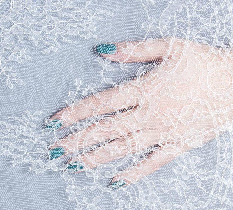 Кружево свадебное  Elisabeth Lave Pref Франция молочный
