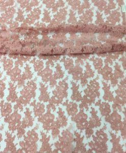 Французское кордовое кружево Rosalie Dusty Pink розовый