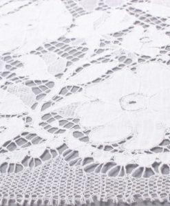 Французское свадебное кружево  Silvia Blanc белый