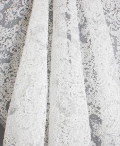 Французское свадебное кружево  Dior Blanc