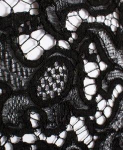 Хлопковое кружево Франция Mendel Noir