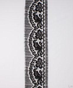 черное круежво Prada