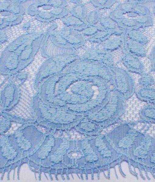 Шерстяное кружево Winter Rose Chambray Blue голубой