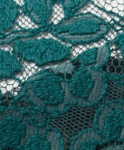 Шерстяное кружево Winter Rose Turquoise тёмно-бирюзовый