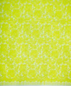 Хлопковое кружево ярко-желтого цвета