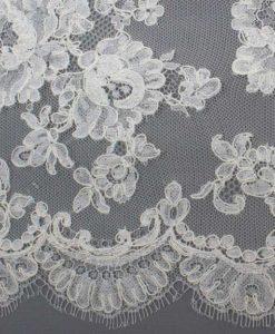 Французское свадебное кружево  Margaret Ecru