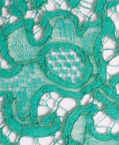 Французское хлопковое кружево Mendel Torquoise