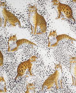 Крепдешин из коллекции Dolce&Gabbana Кошки леопардовые