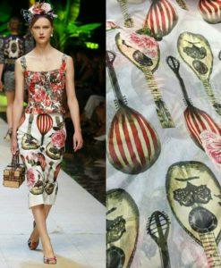 Крепдешин для платья «Dolce&Gabbana»