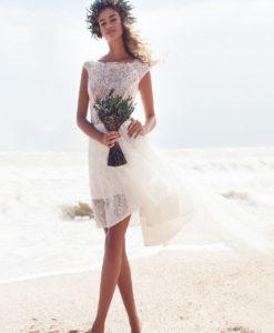 Свадебное кружево  Belle Blanc Франция белый