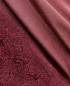 "Креп-сатин ""Лотос"" розово-коричневая карамель"