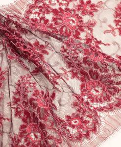 Serena Tanin/Bourgogne - узкое кордовое кружево красный