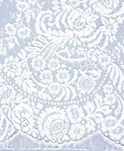Кружево шантильи белого цвета Dior Blanc