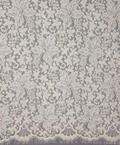 Французское шерстяное кружево Indira Wool/Silk Lpbna молочный