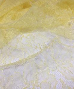 Кружево шантильи. Производство Франция, фабрика Sophie Hallette Выполнено из тончайшей нити светло-желтого лимонного цвета.