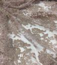 Французское кордовое кружево Elen Parme серо-коричневый