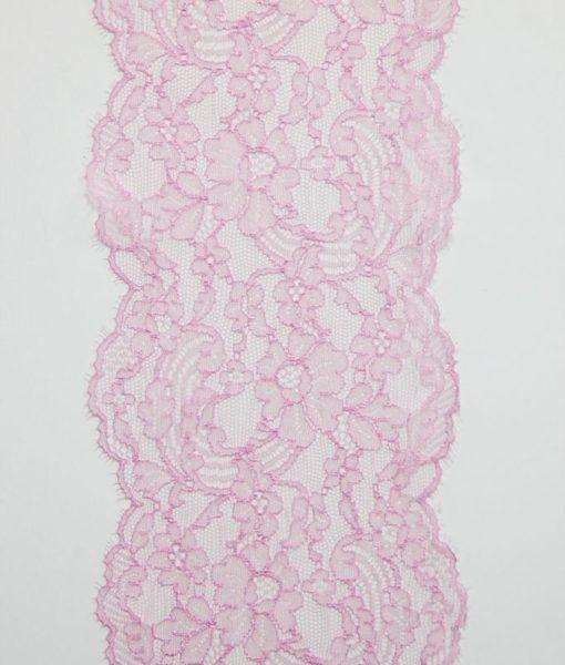 Узкое кружево  нежно-розового цвета.