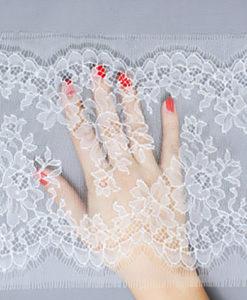 Свадебное кружево узкое Blossom Blanc Белый