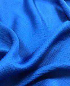 Шелк-Пике синего цвета