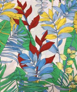 поплин с изображением травы