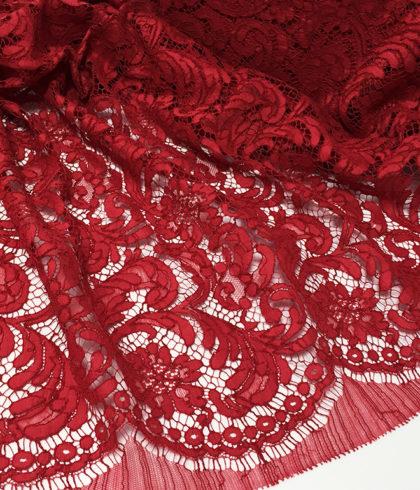 Кружево Prada - беж персик красный бордо
