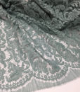 Кружево Prada - серый бирюза изумрудный зеленый