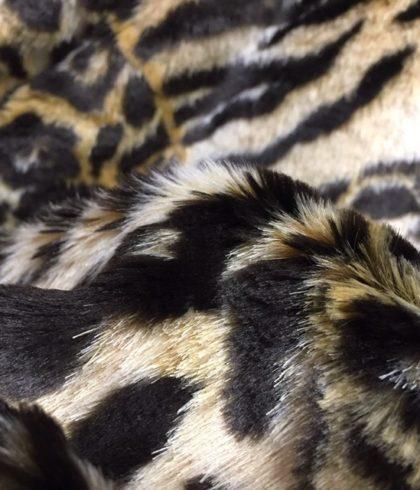 Мех искусственный с принтом Тигр