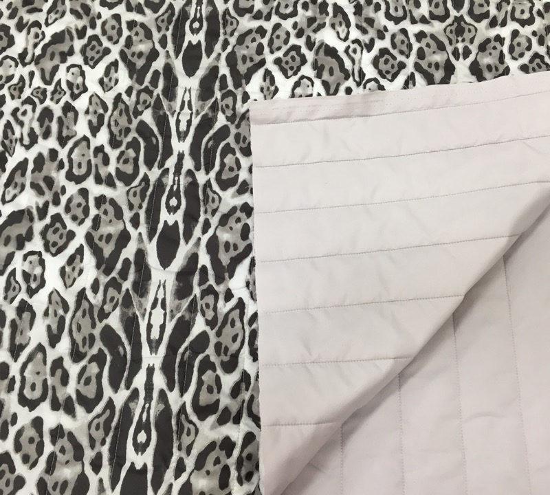 Курточная ткань стеганая Снежный барс