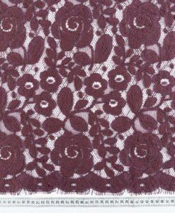 Французское шерстяное кружево Winter Rose Violet/Prune цвет слива