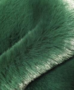 Эко-мех однотонный изумрудно-зеленый