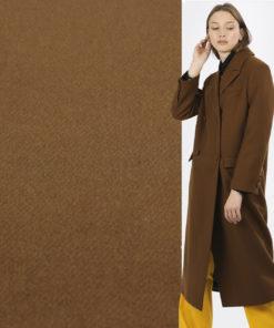 Пальтовая ткань коричневая