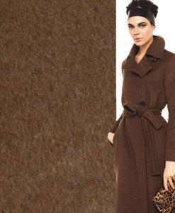 пальтовая ткань кашемир коричневая