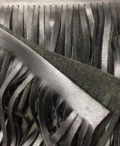 Бахрома Эко-кожа черная