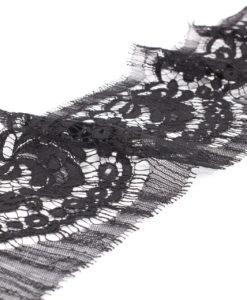 Кружево узкое черное