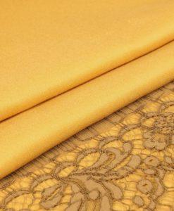 Двусторонний кашемир от Loro Piana горчица / белое золото