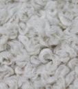 Эко-мех однотонный Браш с вьющимся ворсом серо-молочного цвета