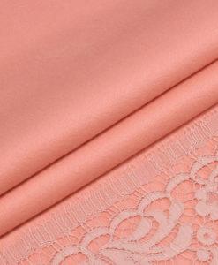 Розовая пальтовая ткань