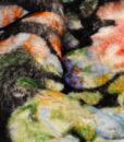 Эко-мех принтованный с цветочным узором