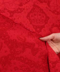 Жаккард с ангелами от Dolce Gabbana цвет красный