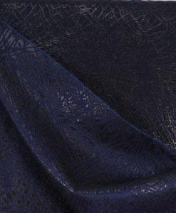 Жаккард с люрексом двухсторонний пыльно-синего цвета