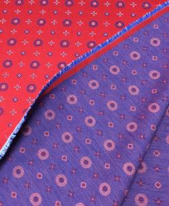 Жаккард двухсторонний цвет красный