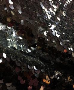 Пайетки классические цвет серебро, черный