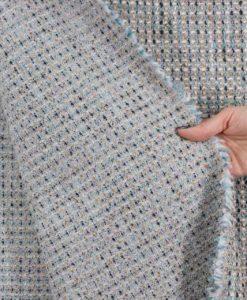 Костюмная ткань Chanel Шанель цвет серо-голубой