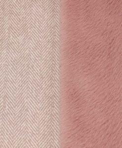 """Дубленка """"ёлочка""""розового цвета"""